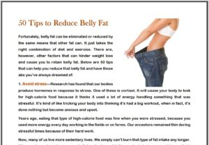 50 Tips to Reduce Belly Fat